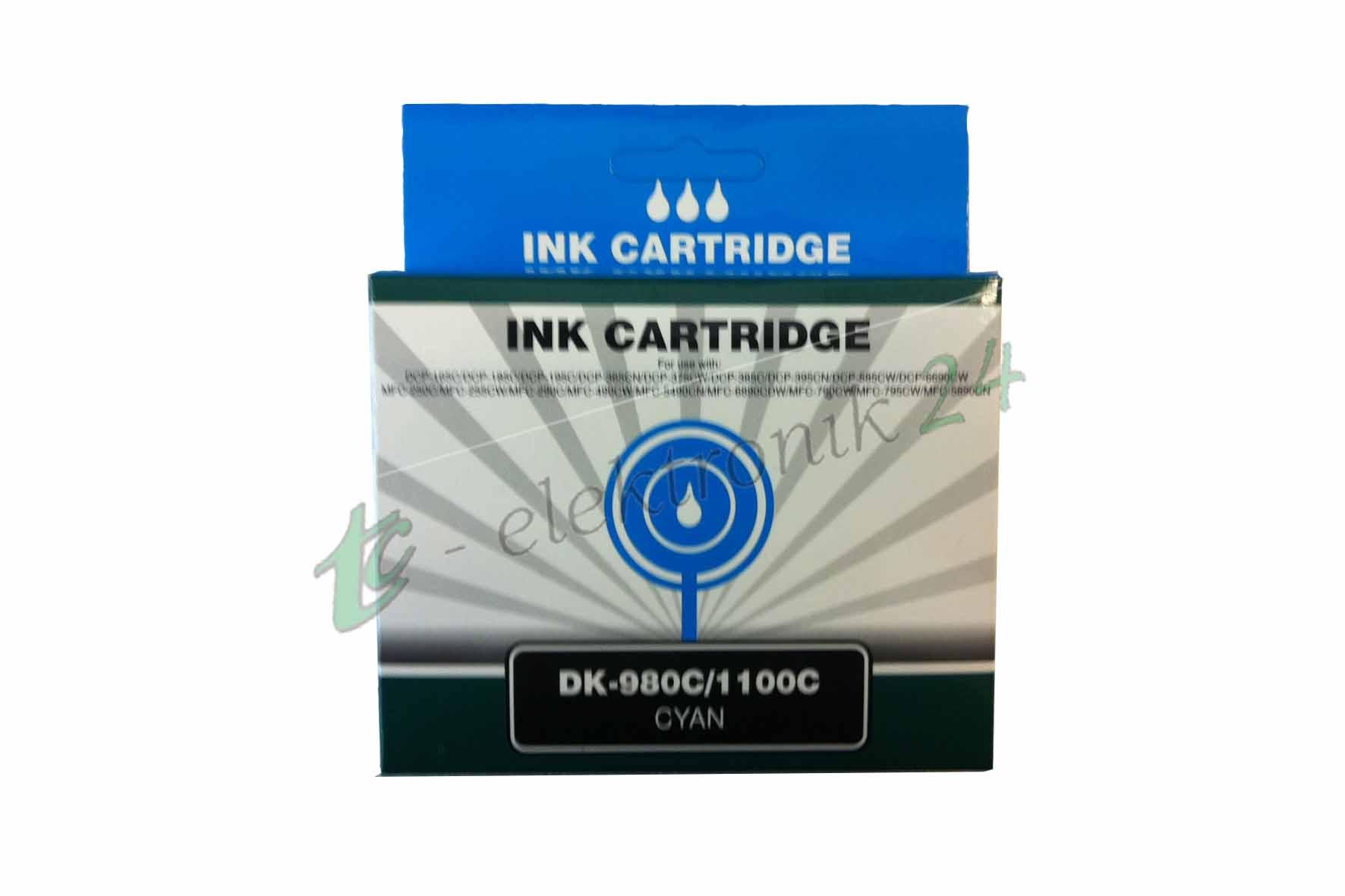 DK-970C, DK-1000C,  (Cyan), kompatibel zu LC-970C, LC-1000C (Cyan)