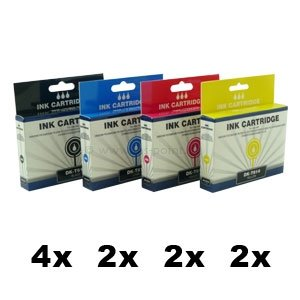 DK-T711 bis DK-T714,  10er Sparset, kompatibelzu T0711 bis T0714