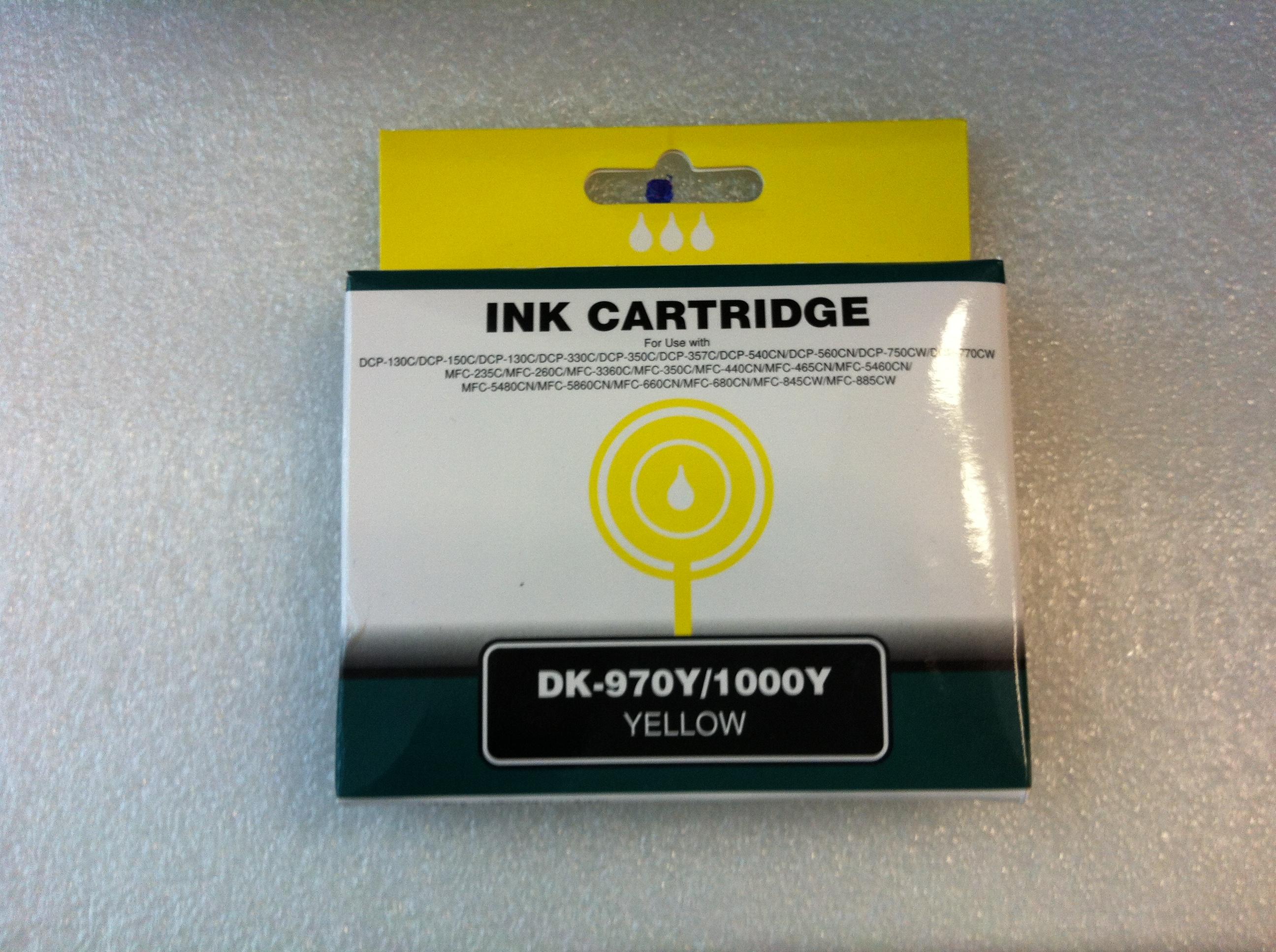 DK-970Y, DK-1000Y (Yellow), kompatibel zu LC-970Y, LC-1000Y (Yellow)